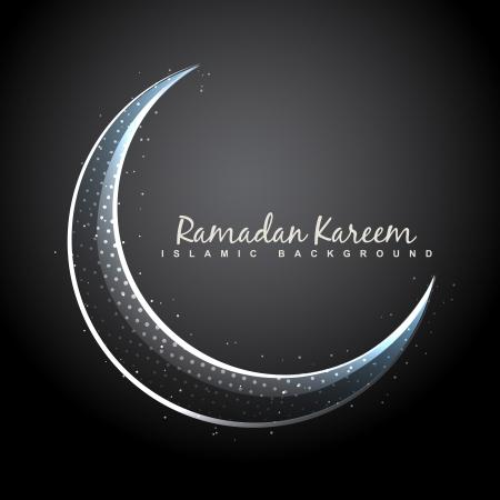 muslim celebration: vector shiny moon ramadan background