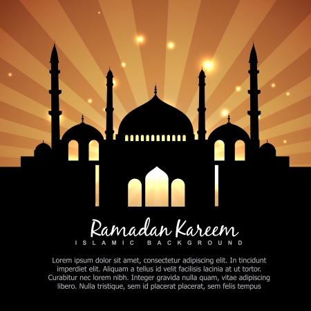 beautiful ramdan kareem islamic background Vector