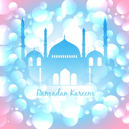 beautiful colorful vector ramadan islamic background Vector