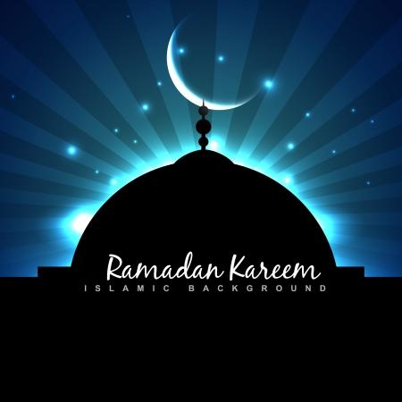 ramzaan: masjid glowing in the sky ramadan backgorund