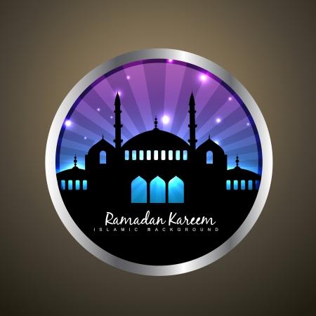 ramzaan: vector ramadan kareem label design Illustration