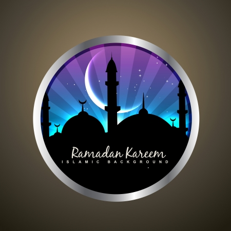 namaz: islamic label vector design illustration