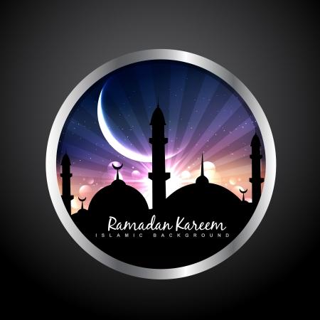 islamic style vector label design Vectores