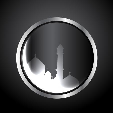 ul: vector muslim festival eid ul fitar background Illustration