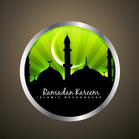 ramzaan: stylish ramadan kareem label design