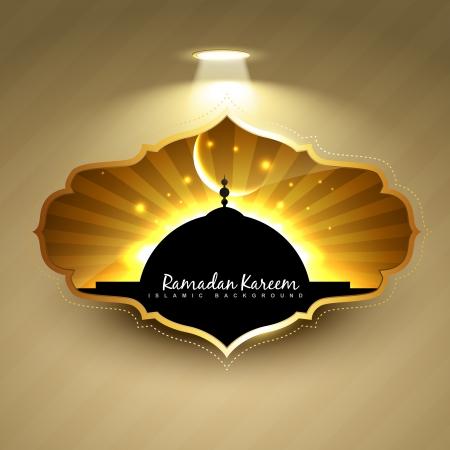 vector ramadan kareem label design Vectores