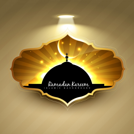 vector ramadan kareem label design Vector