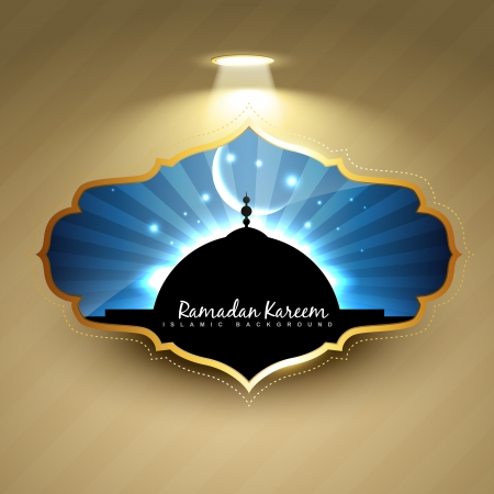 stylish ramadan kareem label design Vector