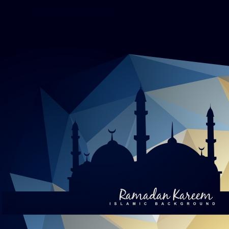 vector islamc moskee met abstracte achtergrond Stock Illustratie