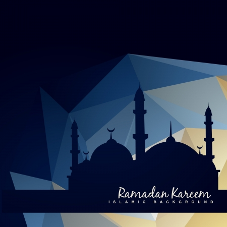 vector islamc mosque with abstract background Vector