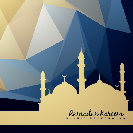 рамадан: красивый фон мечети и абстрактном фоне Иллюстрация