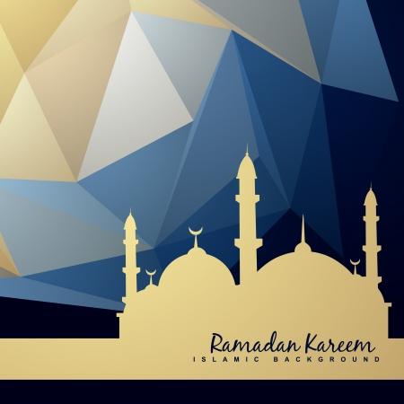 モスクと抽象的な背景の美しい背景