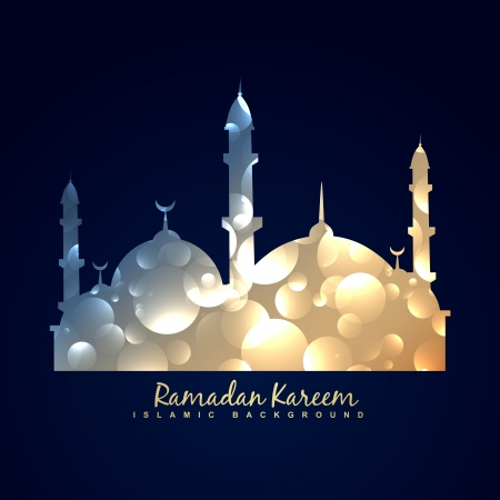 vector shiny mosque design background Stock Vector - 20531333