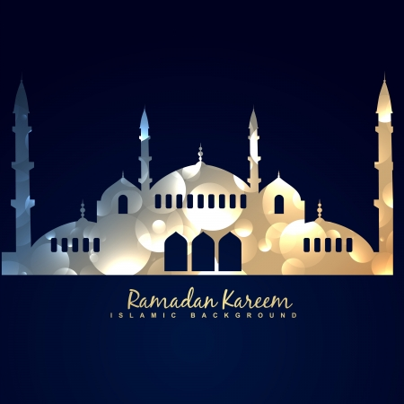 stylish shiny mosque design illustration Vector