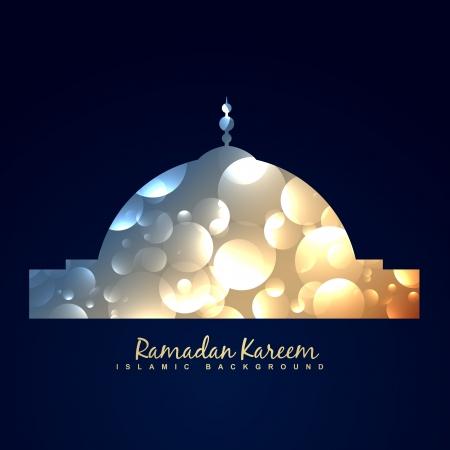 ramzaan: vector shiny mosque ramadan kareem background