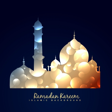 ramzaan: vector islamc mosque background design Illustration