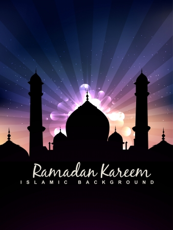 stylish ramadan kareem islamic background Vector