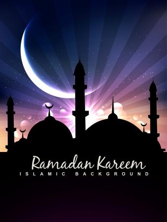 masjid: beautiful ramadan kareem vector background
