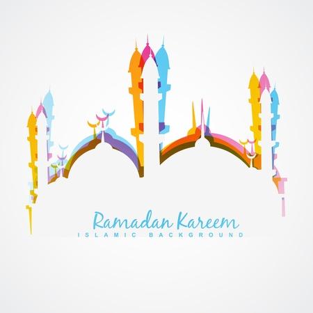 beautiful colorful ramadan kareem illustration Vectores