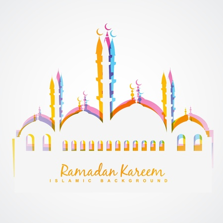 単純なカラフルなイスラム祭りベクトルの背景  イラスト・ベクター素材