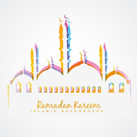 eenvoudige kleurrijke islamitische festival vector achtergrond