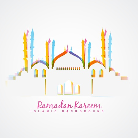 namaz: colorful islamic festival ramadan template design