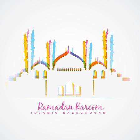 colorful islamic festival ramadan template design