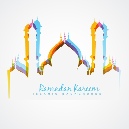 vector colorful mosque design illustration 向量圖像