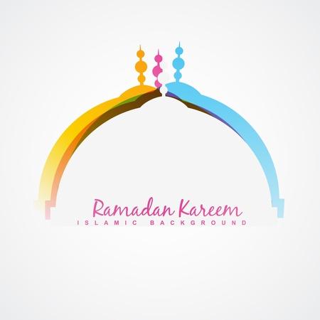 ラマダン祭デザインの背景をベクトルします。