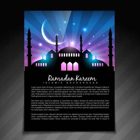namaz: beautiful shiny ramadan kareem template design