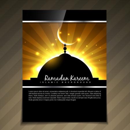 ramzaan: stylish ramadan kareem template vector