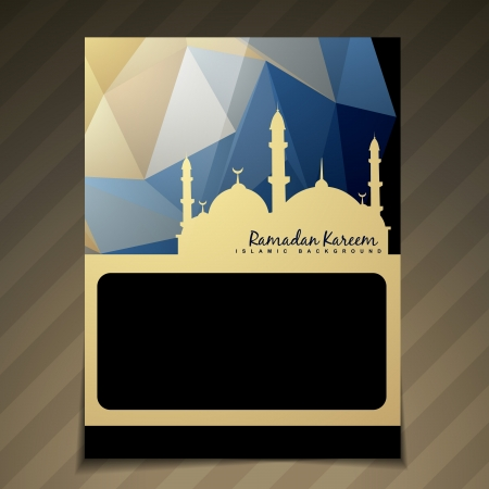namaz: stylish ramadan kareem brochure design