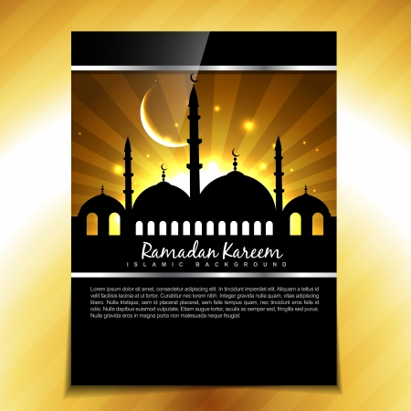 stylish muslim festival ramadan kareem background Vector