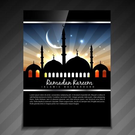 ramzaan: ramadan kareem brochure design illustration