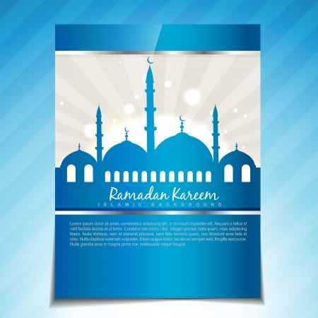 namaz: stylish islamic festival vector template