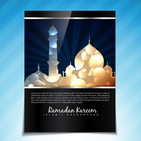 shiny vector illustration of ramadan kareem template background Vector