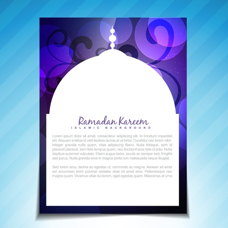 ramzaan: beautiful ramadan kareem festival background with space for your text