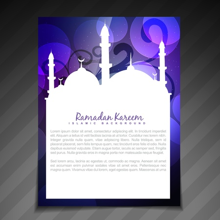 namaz: stylish ramadan kareem festival template design Illustration