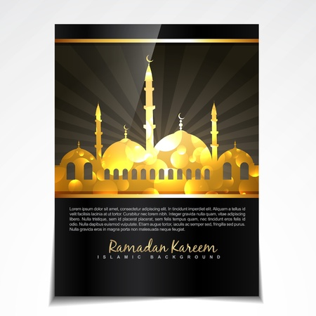 vector ramadan festival template design Vector