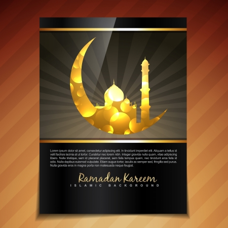 vector illustration of ramadan festival template design Vector