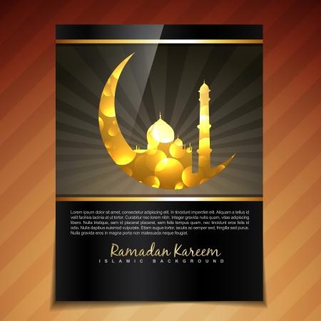 ramzaan: vector illustration of ramadan festival template design