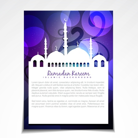 namaz: stylish shiny ramadan festival template design Illustration