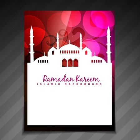 ramzaan: colorful islamic festival ramadan template design