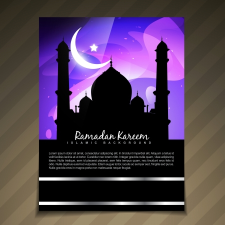 stylish muslim festival ramadan kareem template Stock Vector - 20531607