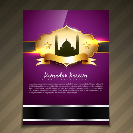 mooie elegante ramadan festival template ontwerp Stock Illustratie