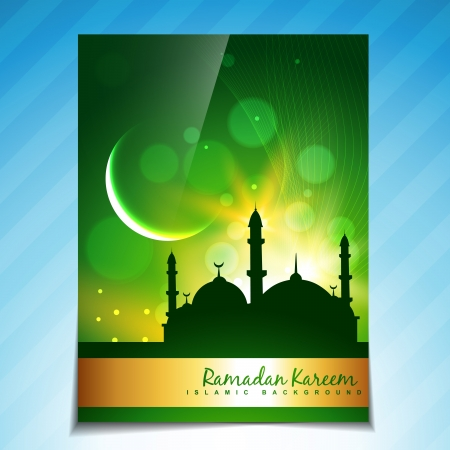 stylish eid and ramadan festival background Vector