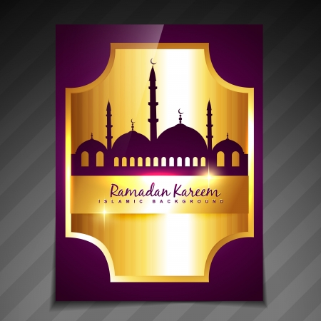 beautiful elegant ramadan festival template design Vector