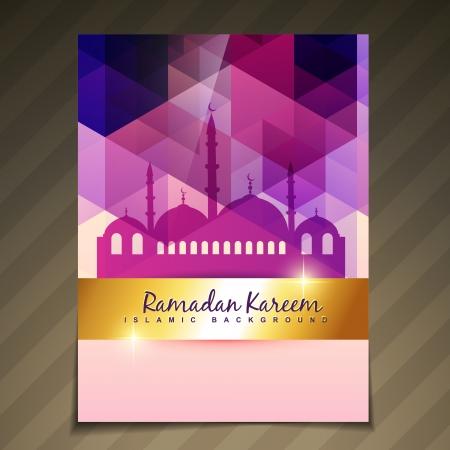 カラフルなイスラム祭りラマダン テンプレート デザイン  イラスト・ベクター素材