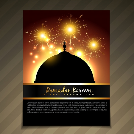 ramadan festival template vector background Vector