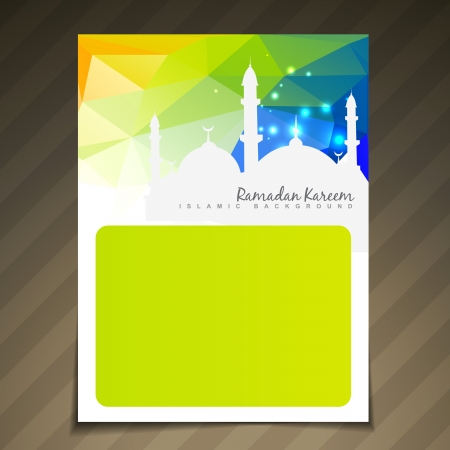 namaz: ramadan festival template vector background